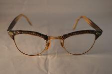 22 AO CatEye 1/10 12k GF Bakelite Sparkle Spectacles Good Condition Very Unique!