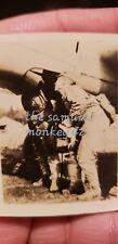 WW2 Japanese  original photo pilots fixing plane  collectible antique