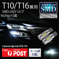 2 X T10 LED Park Light Interior light Super White 6000k Canbus Error free W5W