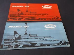 2 x 1975 Sabena Leaflets for Brussels National Airport