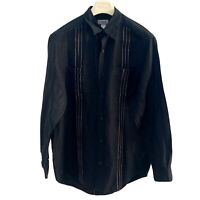 CLAIBORNE SHIRT SIZE L BLACK BUTTON UP LONG SLEEVE MADE IN CHINA