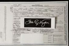 *RARE* STEVIE RAY VAUGHAN SRV 1954-1990 MCMLIV-MCMXC Certified Death Certificate