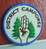District Camporee Patch  vintage