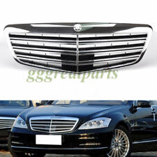 AMG Style Grille For 08-13 Mercedes Benz W221 S-Class Front Bumper Hood - Chrome