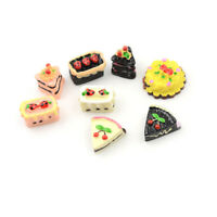 8PCS Dollhouse Miniature Food Set 1/12 Mini Food Cakes Biscuit For  Doll BX