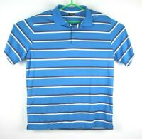 Nike Golf Polo Shirt XL Mens Dri Fit Blue Striped