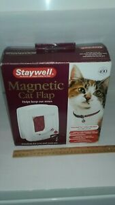 New STAYWELL 400, PET CAT DOG FLAP DOOR, 4 WAY, MAGNETIC COLLAR, FREE SHIPPING!