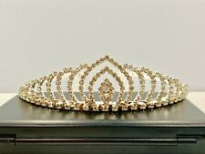 Crystal 1630 Tiara Crown - Silver Tone