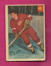 1954-55 PARKHURST # 48 WINGS BILL DINEEN ROOKIE GOOD CARD  (INV# A5815)