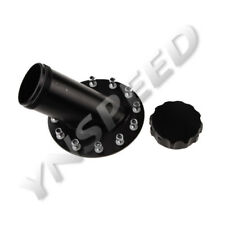 45 Degree Billet Aluminum Fuel Cell Fast Fill Filler Neck 12 Bolt Flange Black