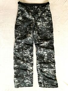Under Armour YOUTH BLACK GRAY PRINTED INSULATED SKI PANTS: LARGE