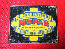 MOPAR PARTS AND ACCESSORIES FORMED EDGE NEW METAL RECTANGLE STEEL SIGNS W/ LOGO