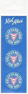 Holstein Kiel   3 Auto Aufkleber  3,5 cm Fussball Bundesliga Fanartikel