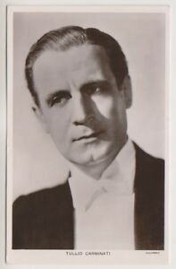 Theatrical postcard - Tullio Carminati (Italian Actor) - (A1)