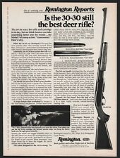 1977 Remington Model 760 Gamemaster 30-30 Rifle Ad Vintage Hunting Advertising