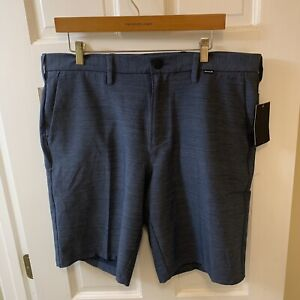 Hurley x Nike Dri Fit DF Cutback Shorts Men 34 Blue Flat Front NWT $65 AJ6449