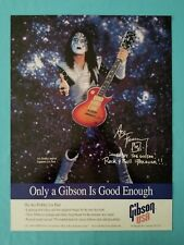 """ACE FREHLEY / KISS    """"GIBSON GUITAR""""   DOUBLE SIDED PROMO POSTER"""