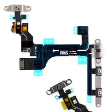 For iPhone 5C Power Flex Cable Mute Switch Volume Buttons With Brackets & Flash