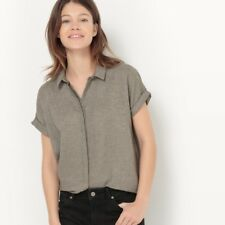 La Redoute Straight-Cut Shirt with Metallic Fibres Size 14 rrp £39 LS170 JJ 14