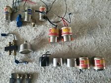 Nos Huge Parts Lot Solenoids, Nozzles, Plate, Brackets, Fittings