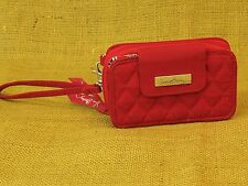 Vera Bradley Zip Wallet Wristlet Clutch Bag iPhone Phone Case RED Cheery Blossom