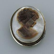 Pearl Cameo Brooch/Pendant Exquisite Mother of