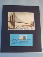 100th Anniversary - Brooklyn Bridge & First Day Cover of its own stamp