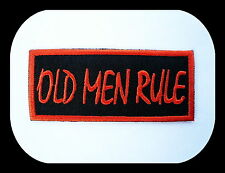 Old Men Rule,Old School,Aufnäher,Patch,Aufbügler,Biker,Iron On,Harley,Badge