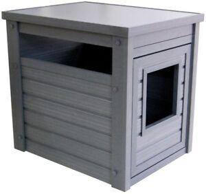 Cat Litter Loo House Conceals LitterBox Enclosure Furniture Design Eco Friendly