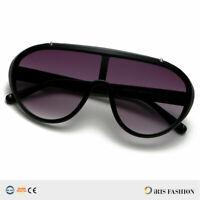 NEW Large Aviator Sunglasses Smoke Lens Men's METAL Frame VINTAGE Frame RETRO