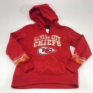 NFL Team Apparel Womens KC Chiefs Red Hoodie Size Medium