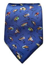 Alynn Neckwear Fly Fishing NAME THAT FLY 100% Silk Fisherman Multi Color Tie