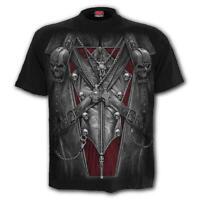 SPIRAL DIRECT Strapped T-Shirt Biker/Grim Reaper/Vampire/Assassin/Skulls/Gothic