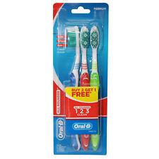 Oral-B Oralb All Rounder Toothbrush 3 Pack Medium Bristles