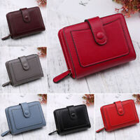 Short Small Money Purse Wallet Ladies Leather Folding Coin Card Holder Women