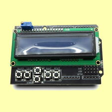 1602 LCD Keypad Shield for Arduino with 16x2 white text and blue blacklight