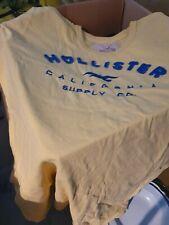 Yellow Hollister T Shirt XXL