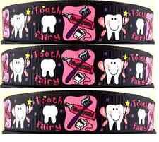 1 Metro 22mm 7/8 Tooth Fairy impreso de cinta de Grogrén Lazo Decoración