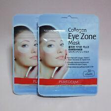 [2 Pack 60 Sheet] Purederm Collagen Eye Zone Mask Dark Circles White 30 Pairs