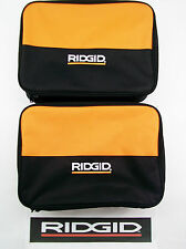 4) RIDGID TOOL BAGS (13X9X4) CARRYING CASES FOR 18 V VOLT DRILL IMPACT & BATTERY