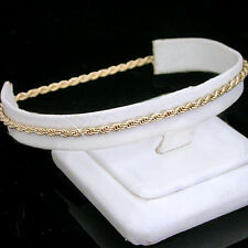 """8"""" Ladies 2mm Round ROPE Link Gold Layered Bracelet + LIFETIME GUARANTEE ~ NEW"""