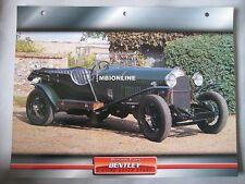 Bentley 3 litre Super Sport Dream Cars Card