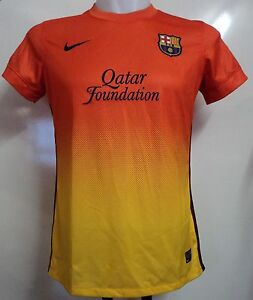 BARCELONA 2012-13 S/S AWAY SHIRT BY NIKE SIZE WOMENS LARGE BRAND NEW WITH TAGSS
