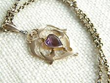 Amethyst Pendant/Locket Edwardian Fine Jewellery