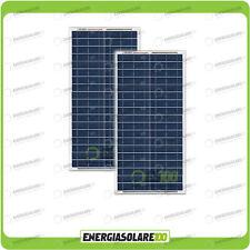 Set 2 Pannelli Solari Fotovoltaici 30W 12V multiuso Pmax 60W Baita Barca