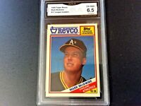 1988 TOPPS REVCO MARK McGWIRE LEAGUE LEADER CARD #17 - GRADED (6.5) EX-NEAR MINT