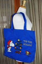 "Snoopy Peanuts Christmas ""Tis The Season"" Shopper Sack Tote Bag"