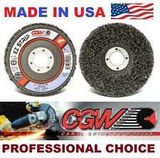 "Box of 10 CGW 4-1/2""x7/8 EZ Strip Disc for Paint & Rust Removal and Cleaning"