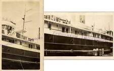 1920s Lake Michigan G&M City of Holland Steam Boat Wheel House LifeBoat Photos