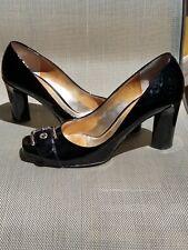 D&G Dolce & Gabbana Black Patent Leather Women Pumps size 40